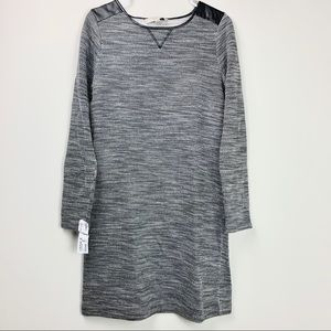 Ann Taylor Loft sweater dress with faux leather